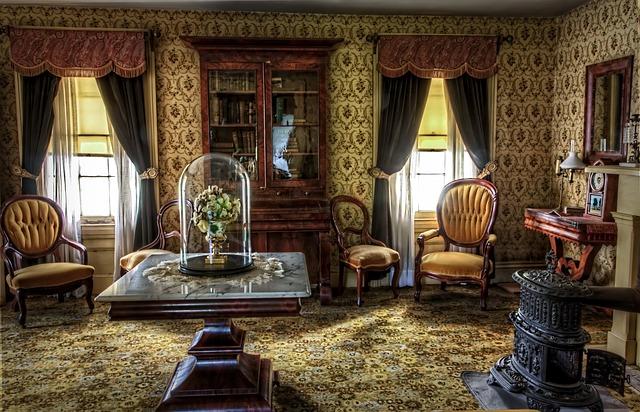 viktoriánský historický pokoj